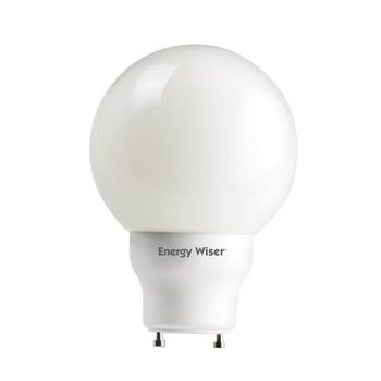 Energy Saver! 15W Twist and Lock GU24 Base G25 Globe Style Fluorescent Bulb