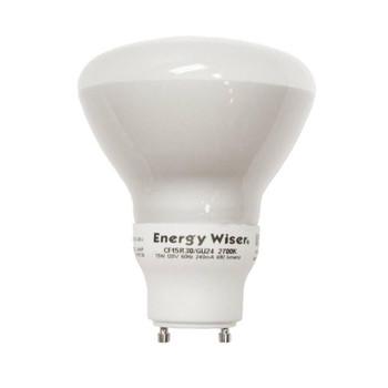 Energy Saver! 15W Twist and Lock GU24 Base R30 Reflector Style Fluorescent Bulb