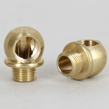1/8ips - 7/8in X 5/8in 90 Deg Ball Armback - Unfinished Brass