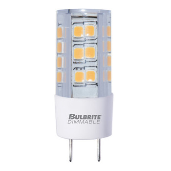 4.5W T4 120V 2-Pin GY8 Base Clear Finish 3000K Soft White Specialty LED Miniature Light Bulb