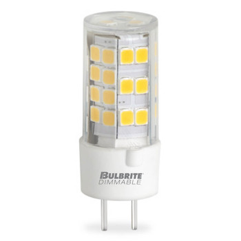 5W T4 12V 2-Pin GY6.35 Base Clear Finish 3000K Specialty LED