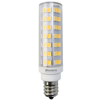 6.5W LED Mini T6 Dimmable E12 Candelabra Screw Base Light Bulb 2700k - Clear Finish