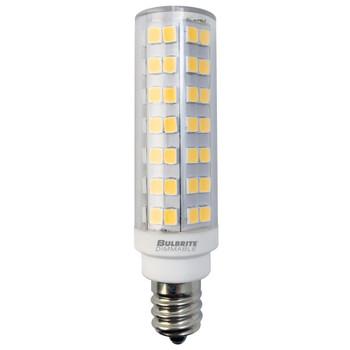 6.5W LED T6 Dimmable E12 Candelabra Screw Base Light Bulb 3000k - Clear Finish