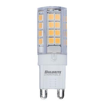 3.5W T4 120V 2-Pin G9 Base Clear Finish 3000K Specialty LED Mini Light Bulb