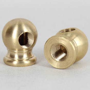 1/8ips Female Threaded - 7/8in Diameter 90 Degree Ball Armback - Unfinished Brass
