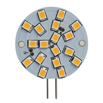 2.8W WAFER 12V 2-Pin G4 Sub-Miniature Base Clear Finish 3000K Specialty LED Miniature Light Bulb