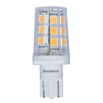 2.5W T3 12V Wedge Base Clear Finish 3000K Soft White Specialty LED Miniature Light Bulb