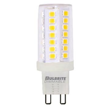 5W T6 120V 2-Pin G9 Base Clear Finish 3000K Specialty LED Miniature Light Bulb