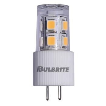 2W JC 12V 2-Pin G4 Sub-Miniature Base Clear Finish 3000K Specialty LED Miniature Light Bulb