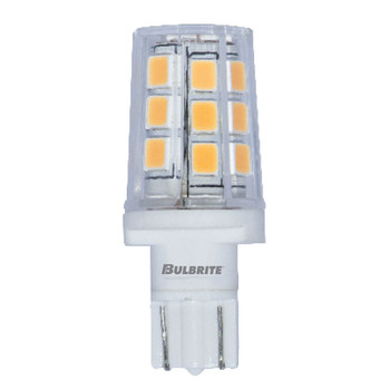 2.5W T3 12V Wedge Base Clear Finish 2700K Warm White Specialty LED Miniature Light Bulb