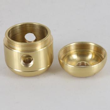2 X 1/8ips. Side Holes - 1/8ips Bottom - Large Cluster Body - Unfinished Brass