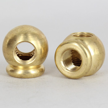 1/4ips Threaded - 1-1/8in Diameter Tee Fitting Ball Armback - Unfinished Brass
