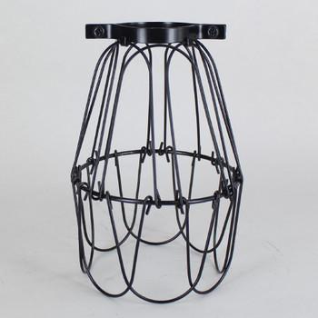 Black Powder Coated Bulb Cage