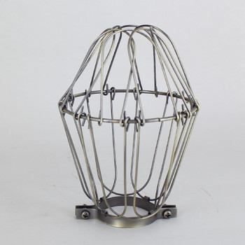 Antique Brass Plated Bulb Cage
