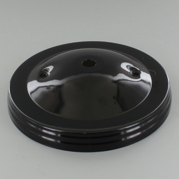 2-3/4in Bar Holes - Plain Canopy - Black Gloss