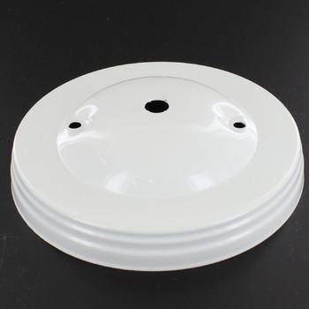 2-3/4in Bar Holes - Plain Canopy - White Gloss