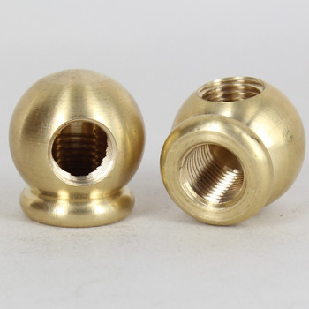 1/4ips Threaded - 1-1/8in Diameter 90 Degree Ball Armback - Unfinished Brass