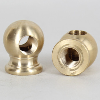 1/8ips - 1-1/16in X 7/8in Tee Ball Armback - Unfinished Brass
