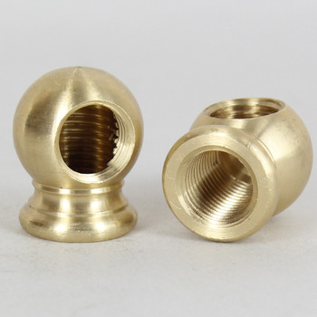 1/4ips Threaded - 7/8in Diameter 90 Degree Ball Armback - Unfinished Brass