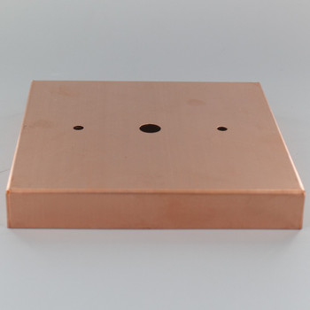 2-3/4in Bar Holes - Steel Square Ceiling Canopy - Unfinished Copper