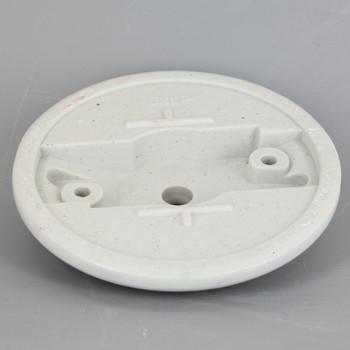 2-3/4in Bar Holes - Contemporary Canopy Kit - White Glazed Porcelain