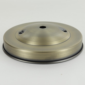 2-3/4in Bar Holes - Plain Spun Canopy - Antique Brass with 1/8ips Slip (7/16in) Center Hole And 2-3/4 Mounting Bar Holes.