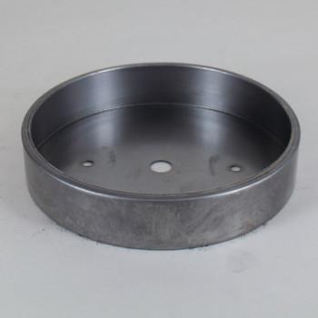 2-3/4in Bar Holes - Flat Steel Canopy - Unfinished Steel
