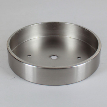 2-3/4in Bar Holes - Flat Brass Canopy - Satin/Brushed Nickel