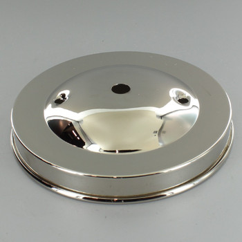 2-3/4in Bar Holes - Plain Spun Canopy - Nickel Plated