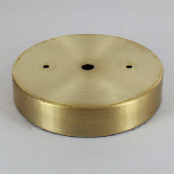 2-3/4in Bar Holes - Flat Brass Canopy - Unfinished Brass