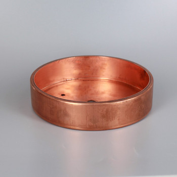 2-3/4in Bar Holes - Flat Brass Canopy - Unfinished Copper