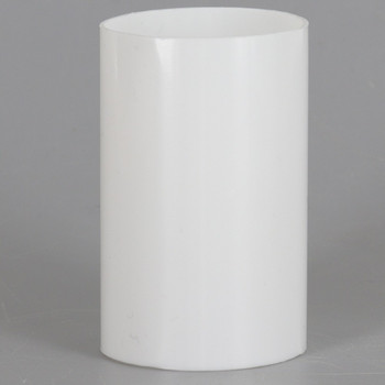 2in. Long Soft Plastic E-26 Base Candle Socket Cover - Edison - White