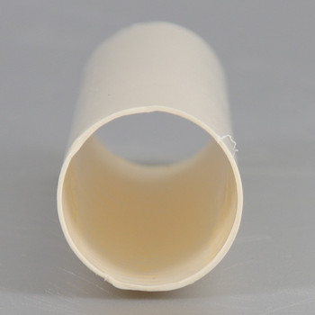 3-1/2in. Long  Soft Plastic E-12 Base Candle Socket Cover - Candelabra - Cream