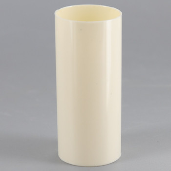 2in. Long Soft Plastic E-12 Base Candle Socket Cover - Candelabra - Cream