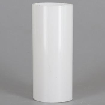 3in. Long Soft Plastic E-26 Base Candle Socket Cover - Edison - White
