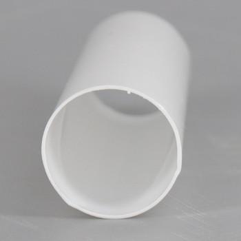 4in. Long Soft Plastic E-12 Base Candle Socket Cover - Candelabra - White
