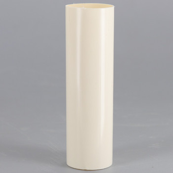 3in. Long Soft Plastic E-12 Base Candle Socket Cover - Candelabra - Cream