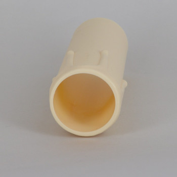 105mm Height X 29mm OD Hard Plastic Candle Cover with Drips - Ivory