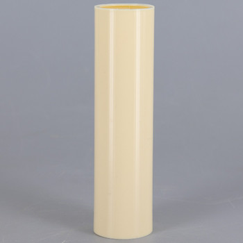 100mm (3-15/16in) Long Plain Hard Plastic European Candle Cover - Ivory