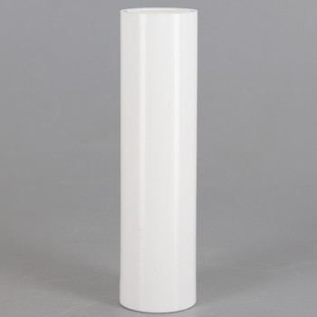100mm (3-15/16in) Long Plain Hard Plastic European Candle Cover - White