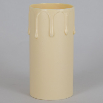 42mm OD X 85mm Height Ivory Drip Candle Cover Sleeve