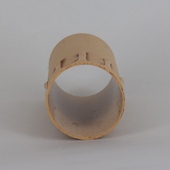 42mm OD X 85mm Height  Old Ivory Laquered Drip Candle Cover Sleeve for use with SO7175 series E26 and E27 Lamp Holder Sockets.