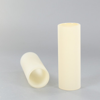 3in. Long Ivory Gloss - Glass E-12 Base Candle Socket Cover - Candelabra