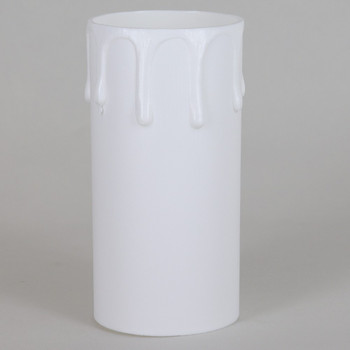 42mm OD X 85mm Height White Drip Candle Cover Sleeve for use with SO7175 series E26 amd E27 Lamp Holder Sockets.