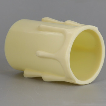 2in. Long Plastic E-26 Base Candle Socket Cover - Edison - Ivory Drip