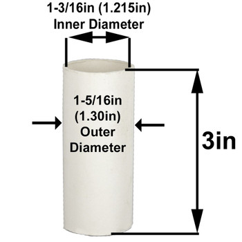 3in. Paper E-26 Base Candle Socket Cover - Edison - White