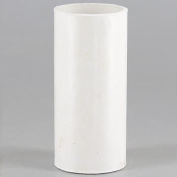 2in. Paper/Fiber E-12 Candelabra Base Candle Socket Cover - White