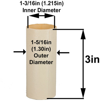 3in. Paper E-26 Base Candle Socket Cover - Edison - Ivory
