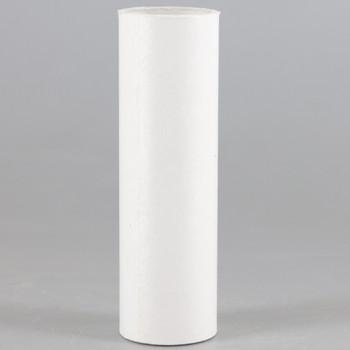 3in. Long Paper/Fiber E-12 Candelabra Base Candle Socket Cover - White