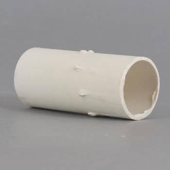 2in. Long Paper/Fiber E-12 Candelabra Base Candle Socket Cover - White Drip